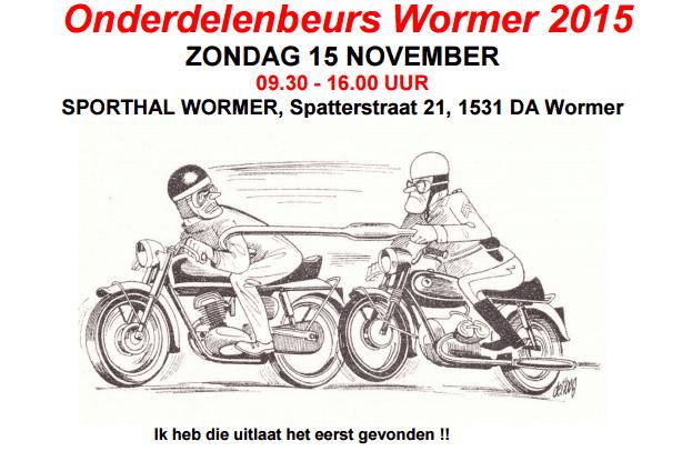 aankondiging onderdelenbeurs Wormer 2015
