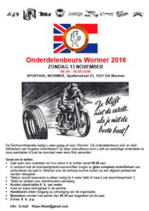 onderdelenbeurs wormer 2016_flyer